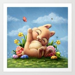 A little Easter bunny Art Print