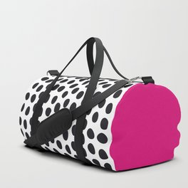 Modern Handpainted Polka Dots with Pink Duffle Bag