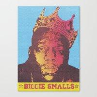 biggie smalls Canvas Prints featuring Biggie Smalls by RDotA Grapfiks