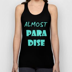 ALMOST PARADISE Unisex Tank Top