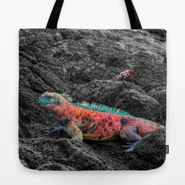 Christmas Iguana in the Galapagos Tote Bag
