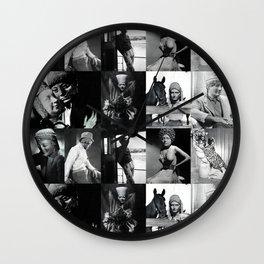 Statue Portraits Wall Clock
