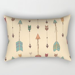 Bohemian hand drawn arrows, 01 Rectangular Pillow