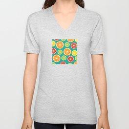 citrus pattern Unisex V-Neck