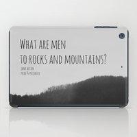 jane austen iPad Cases featuring Mountains Jane Austen by KimberosePhotography