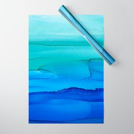 Alcohol Ink Seascape Wrapping Paper
