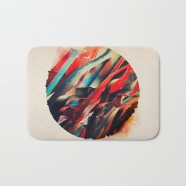 64 Watercolored Lines Bath Mat