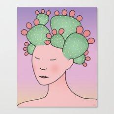Prickly Pear Cactus Spirit Canvas Print
