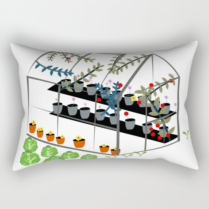 Greenhouse Rectangular Pillow