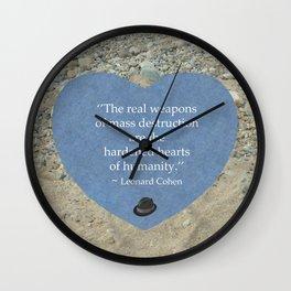 Hardened Hearts Wall Clock
