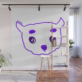 purple puppy Wall Mural