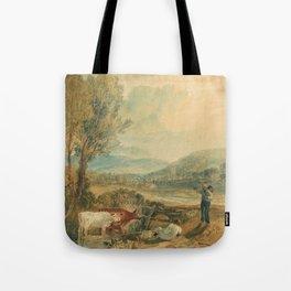 "J.M.W. Turner ""Lulworth Castle, Dorset"" Tote Bag"