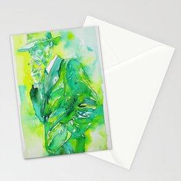 J. ROBERT OPPENHEIMER - watercolor portrait.3 Stationery Cards