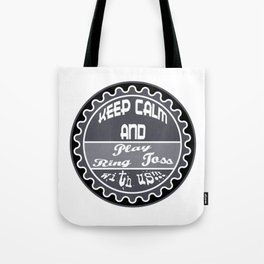 Funny And Awesome Toss Tshirt Design Play ring toss Tote Bag