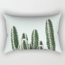 Blue Sky Cactus Rectangular Pillow