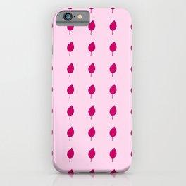 Leaf 14 pink iPhone Case