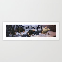 Onslaught Wolves Art Print