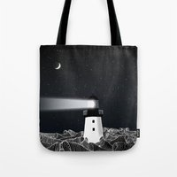 lighthouse Tote Bags featuring Lighthouse by Florent Bodart / Speakerine