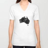 australia V-neck T-shirts featuring Australia by Jeremy Taylor Hamann