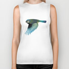 Colorful bird Biker Tank