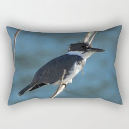 Male Belted Kingfisher Rectangular Pillow