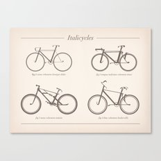 Italicycles - Bikes Made from Italic Fonts Canvas Print