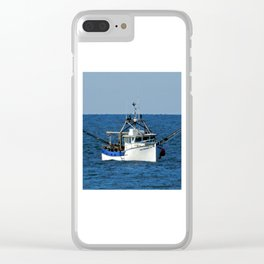 Fishing on the Sea 3 of 3 Starboard side view Clear iPhone Case