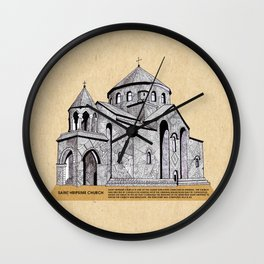 Saint Hripsime Church (Armenia) Wall Clock