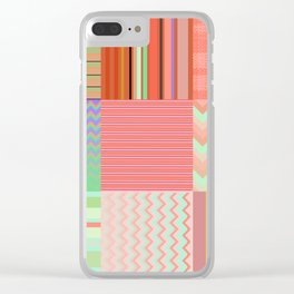 Stripes and chevron mixed color fantasy Clear iPhone Case