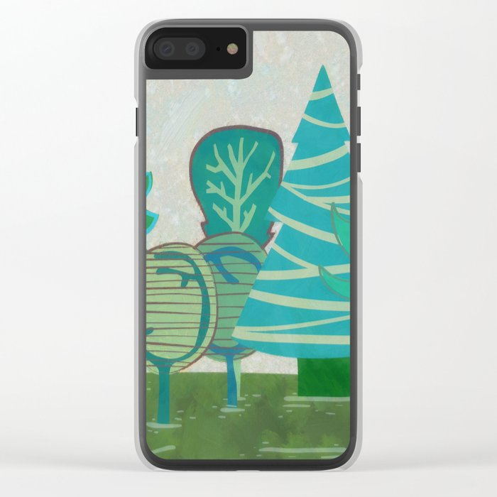 I have  only a small forest Clear iPhone Case