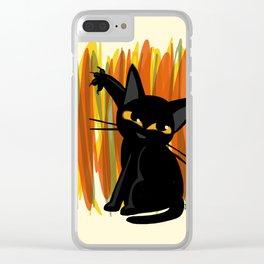 Cat artist Clear iPhone Case
