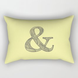 Yellow Ampersand Rectangular Pillow