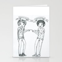 danisnotonfire Stationery Cards featuring Dan and Phil 2 by Sanni Salmela