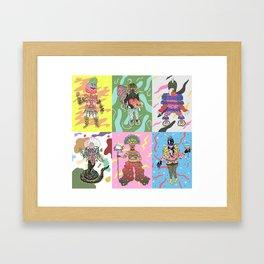characters Framed Art Print