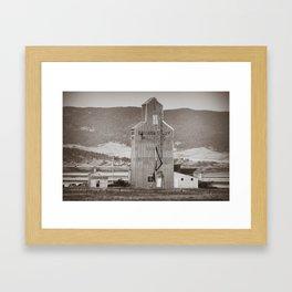 Grain Elevator, Danvers Montana Framed Art Print