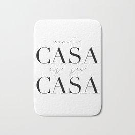 HOME DECOR,Home Sweet Home Sign,Mi Casa Es Su Casa,Modern Art,Spanish Decor,Spanish Sign,Home Sign Bath Mat