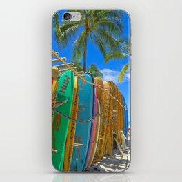 Hawaiian surfboards iPhone Skin