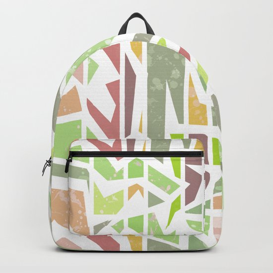 Abstract pattern . Geometric shapes . Backpack