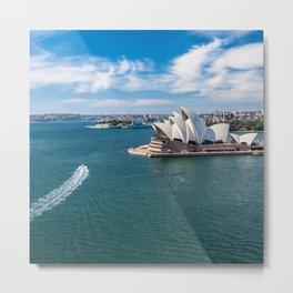 Sydney Harbor and Sydney Opera House Metal Print