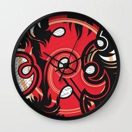 "A part of the ""Circles"" series of abstract artworks by Ramiro Piedrabuena. Wall Clock"