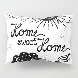 Home sweet Home Illustration Pillow Sham