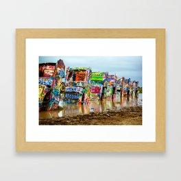 Sunken Cadillacs Framed Art Print