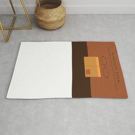 Barton Fink minimalist poster Rug