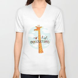 No High Expectations Unisex V-Neck