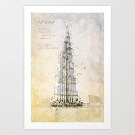 Burj Khalifa, Dubai Art Print