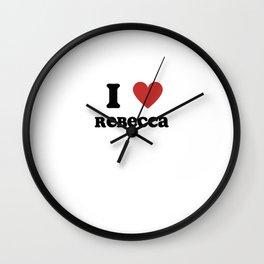 I Love Rebecca Wall Clock