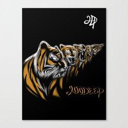 Tiger Deep Canvas Print