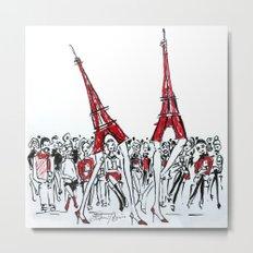 A Paris Runway Fashion Illustration Metal Print