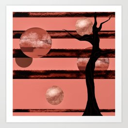 Corail moons Art Print