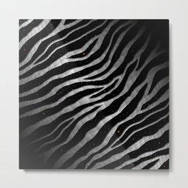 Ripped SpaceTime Stripes - Black/White Metal Print